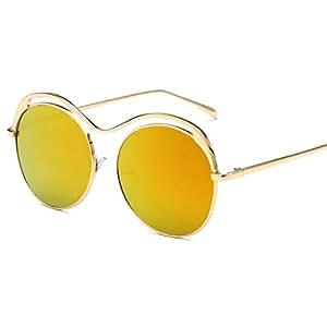 Sabarry UV Gafas de Sol clásica Retro Redondas Vers piegelt ...