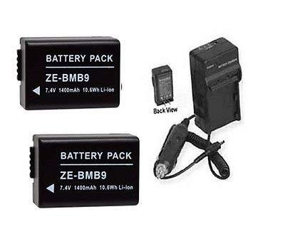 2電池+充電器for Panasonic dmc-fz60、Panasonic fz62、Panasonic dmc-fz60 K、Panasonic dmc-fz70、Panasonic dmc-fz70 K B01DLNKFNY