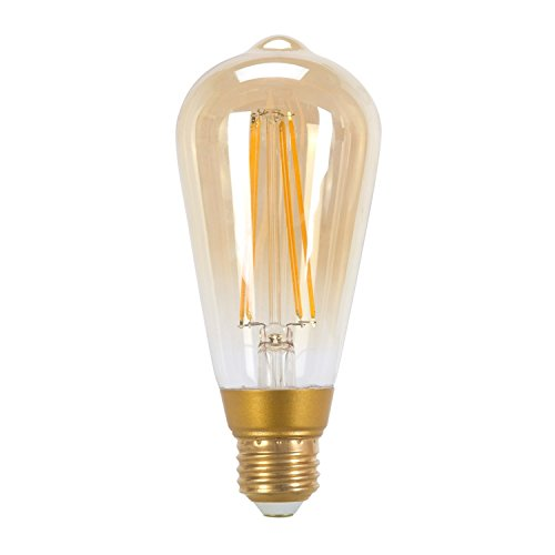Globe Electric 60W Equivalent Soft White (2200K) Vintage Edison Dimmable LED Light Bulb, E26 Base, 450 Lumens 73193