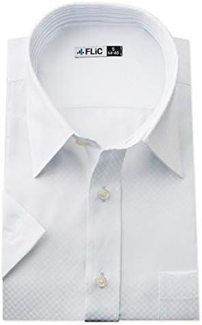 FLiC ワイシャツ 半袖 形態安定 ボタンダウン レギュラー メンズ ビジネス snb