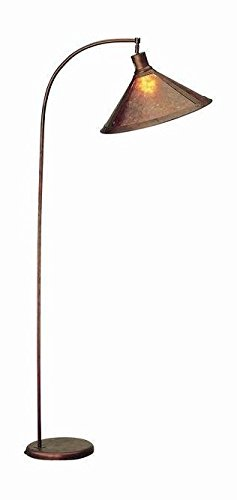 Rust 150 Watt 68in. Traditional/Classic Metal Arc Floor Lamp with 3-Way Switch and Round Mica ()