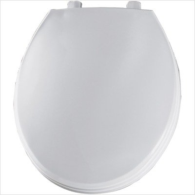 Bemis 7B760T 000 Round Closed Front Plastic Toilet Seat with Cover, White