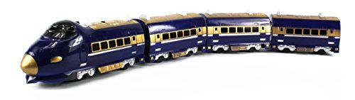 Haktoys Battery Operated Express 28″ Bump & Go Action Train Toy with Lights and Music – Colors May Vary