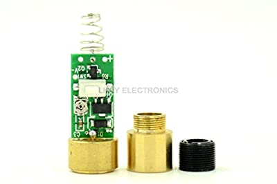 650MD-100-DIY-301 650nm 100mw Red Laser Diode Module w/ lens and Lens holder for DIY