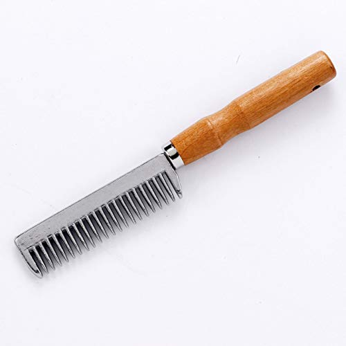 - Roma Pulling Comb with Wooden Handle