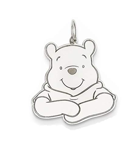 Roy Rose Jewelry Sterling Silver Winnie the Pooh Charm Necklace Complete with 18