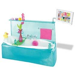 barbie my house bathtub toys games. Black Bedroom Furniture Sets. Home Design Ideas