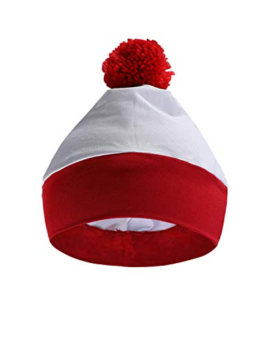 OUGES Halloween Red and White Stripe Hat Where's Waldo Costume -