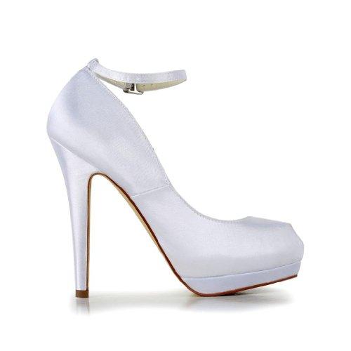Jia Jia Wedding 40916 Scarpe Sposa Scarpe col tacco donna Bianco