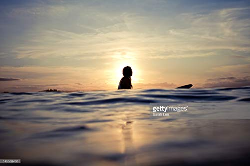 Photos by Getty Images Silhouetted Woman on Longboard - Alum
