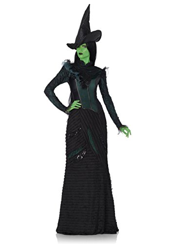 Leg Avenue Witch Costumes (Leg Avenue Women's Wicked 3 Piece Deluxe Defying Gravity Elphaba Witch Costume, Black, Small)