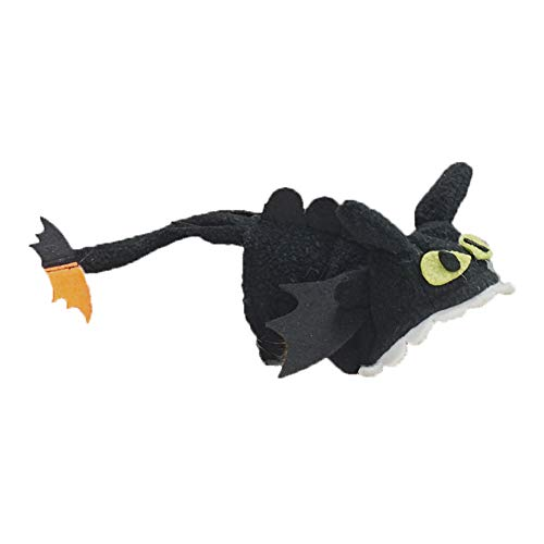 PETLOCA Squirrel Costumes Pet Squirrel Clothes Holiday Photo Keep Warm Squirrel Leash Handmade L No Tooth Shape, Cute, Warm and Beautiful Black -