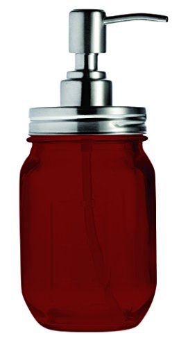 Mason Jar Soap Liquid Dispenser By Smiths - Full Color Re...