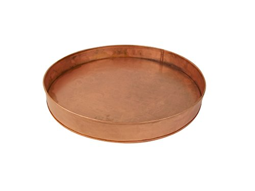 """Craft Outlet Copper Round Tray, 12 x 12 x 1.5"""""""