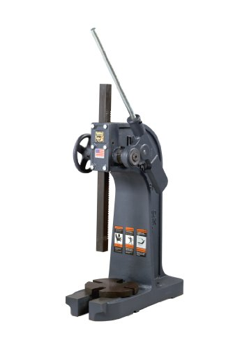 Dake 1-1/2B Model Ratchet Leverage Arbor Press with Handwheel and Counterweight, 3 Ton Capacity, 18.25'' Maximum Working Height, 8.25'' Length x 21'' Width x 28'' Height by Dake