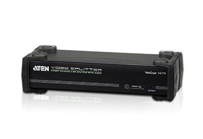 Aten 4-Port DVI Dual Link Splitter with Audio (VS174) by ATEN