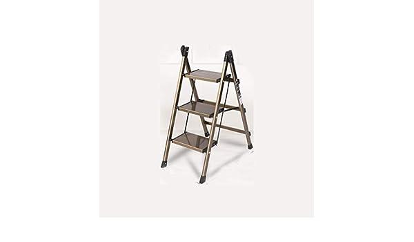 HBJP Taburete de Paso Escalera doméstica de Aluminio Ultrafina Plegable hogar Espina de Interior Soporte de Flor Escalera de Almacenamiento heces Engrosamiento Taburete Escalera: Amazon.es: Hogar