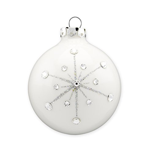Swarovski Christmas Ball Ornament, Glass, Handmade, 8cm (3.15