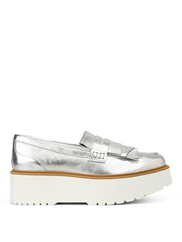 quality free shipping low price buy cheap many kinds of Hogan Women's HXW3550AF10SV0B200 Silver Leather Loafers cheap in China free shipping lowest price pick a best cheap price cl4l3