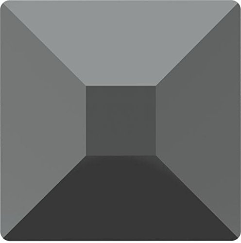 2403 Swarovski Flatback Crystals Non Hotfix Pyramid | Jet Hematite | 6mm - Pack of 144 (Wholesale) | Small & Wholesale Packs