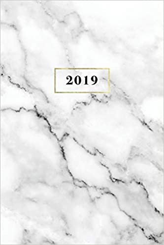2019 weekly monthly planner organizer 6x9 marble gold 12 month planner volume 1
