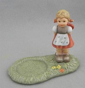 Berta Hummel Sending My Love Flower Holder Figurine Girl BH 1026