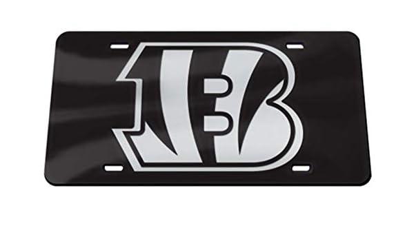 Jacksonville Jaguars WC Premium BLACK w//SHIELD Color Logo Laser Tag Acrylic Inlaid License Plate Football