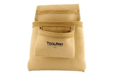 ToolPro Split Leather Nail and Tool Pouch by TOOLPRO