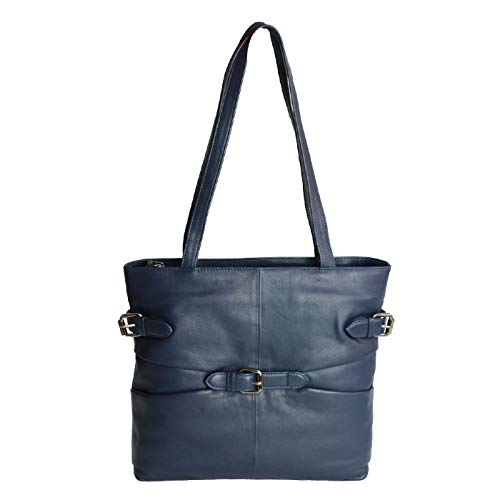 Eastern Leather Jill Navy Tote Stile Donna Blu Borsa Counties A Mano UqT5pUfWr