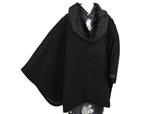 キリン芸術的終わったhiromichi nakano ヒロミチ ナカノ 着物用 ポンチョ風ケープ ファー付き ブランド コート