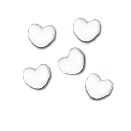 BEADS PERUVIAN CERAMIC HEART SHAPED choose color size OWNER SPECIAL (White 16mm ~ 18pcs)