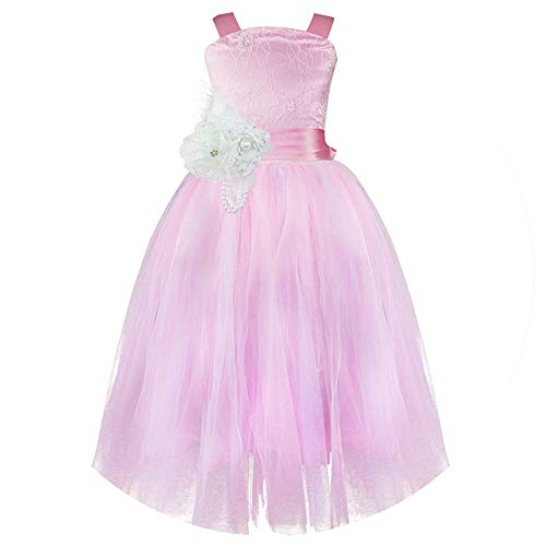 Qirong Sleeveless Flower Girl Dress Princess Party Pageant