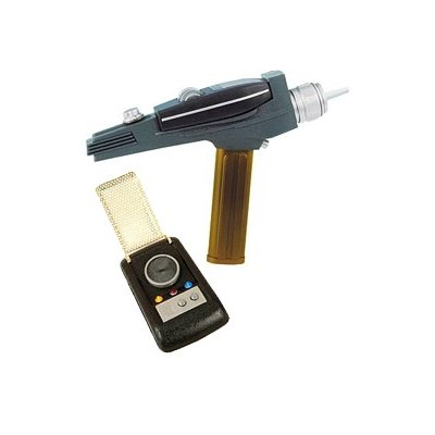 Star Trek Gold Phaser and Gold Communicator - EE Exclusive