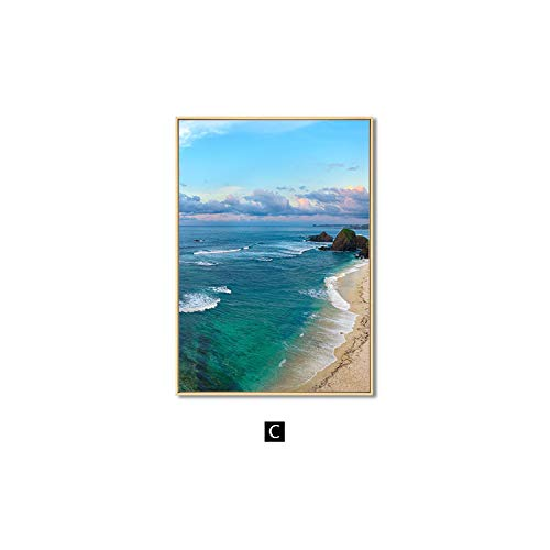 Zutty Poster Coastal Landscape Canvas Art Print Modern Wall Painting Decoration Picture - Bathroom Mirrors Coastal Lowes