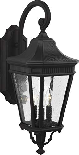 - Feiss OL5422BK Cotswold Lane Outdoor Patio Lighting Wall Lantern, Black, 3-Light (10