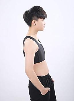 BaronHong Tomboy Trans Lesbian Mesh Middle Hooks Half Length Chest Binder