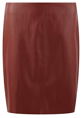 Promod Mini-jupe effet cuir Cognac