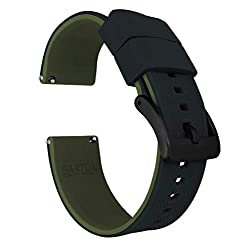 Image of the product 22mm Black/Army Green   that is listed on the catalogue brand of Barton Watch Bands.