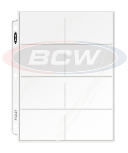 Coupon Holders 20 (Twenty) PREMIUM BCW Pro 8-pocket Pages - Eight Pockets Page (8 Top Load/Horizontal Slots) Made in USA