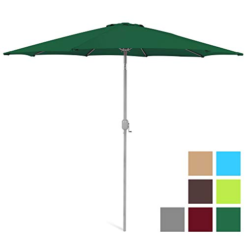 Best Choice Products 9-Foot Outdoor Aluminum Polyester Market Patio Umbrella