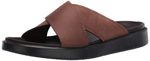 ECCO Men's Flowt LX Slide Flat Sandal, Cocoa Brown, 44 M EU (10-10.5 US) from ECCO