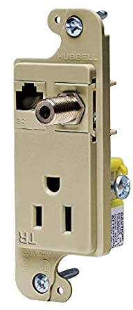 Hubbell Wiring Systems RJ650ITR tradeSELECT JLOAD Tamper-Resistant