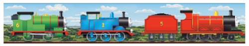 York Wallcoverings ZB3277BD Thomas Scenic Border, (Thomas The Train Border)