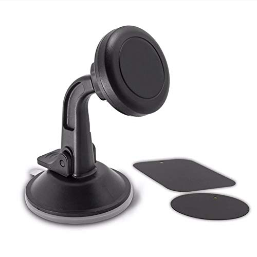 Magnetic Car Phone Mount, Dashboard and Windshield Magnetic Universal Suction Cup Mount Holder for Smartphones Including iPhone X, 8, 7, 6, 6S, Galaxy S8, S7, S7 Edge.