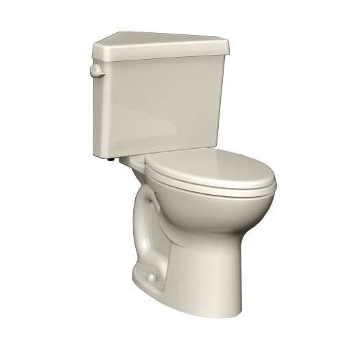 - American Standard 270AD001.222 Cadet 3 Right Height Elongated Two-Piece Triangle Toilet with 12-Inch Rough-In, Linen