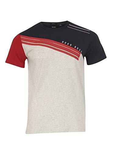 Hugo Boss Men's Tee-6 Bright Red Short Sleeve Crew Neck T-Shirt Sz: - Boss Crew T-shirt