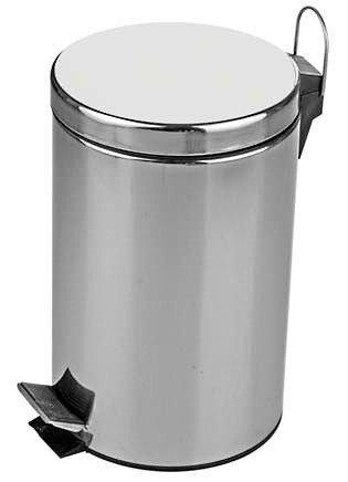 Mülleimer Abfalleimer Tretmülleimer Müllsammler Papierkorb Abfallbehälter Weiß