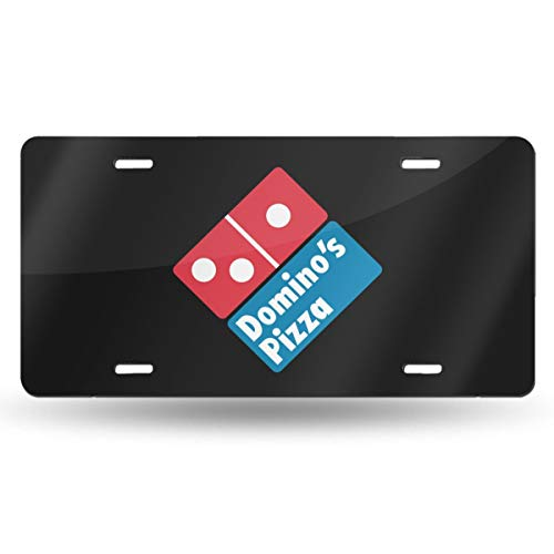 SimonaDnch Domino's Pizza Metal License Plate Frame Car Accessories