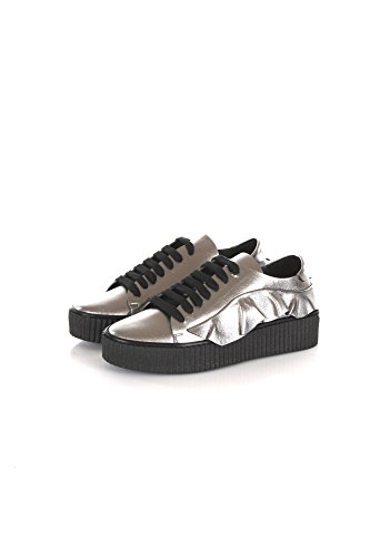 Sneakers Donna Pinko 37 Argento Endine Autunno Inverno 2017/18