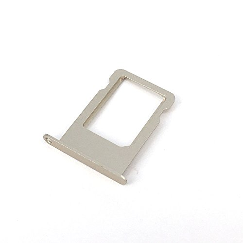 E-repair SIM Tray Holder Slot Replacement Part for iPhone 5 5S (Gold) (Iphone 5s Gold Sim Slot)